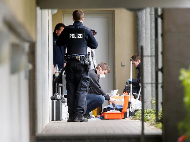 Police at the scene in Germany
