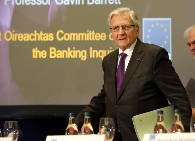 Jean-Claude Trichet, former President of the European Central Bank pictured before his address to the Institute and International and European Affairs and members of the Oireachtas Banking Inquiry at the Royal Hospital Kilmainham