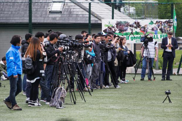 Some 70 members of the Jaing Su TV Camera Team