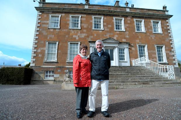 Joy and Chris Foster, from Donabate, at Newbridge House, Newbridge Demesne, Donabate, Dublin