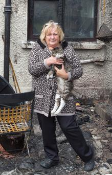 Lily McKenna and Tiger are homeless after house caught fire