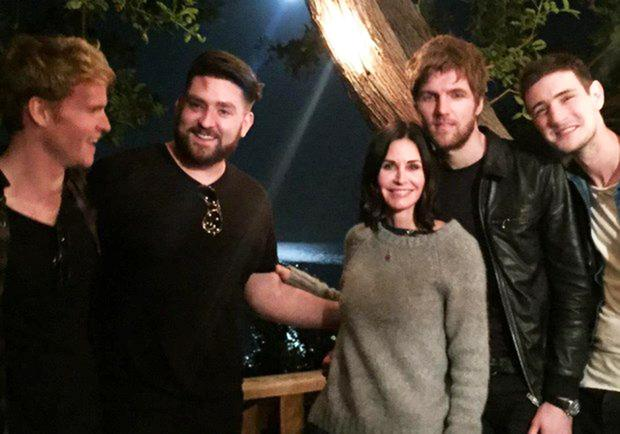 Kodaline and Courteney Cox