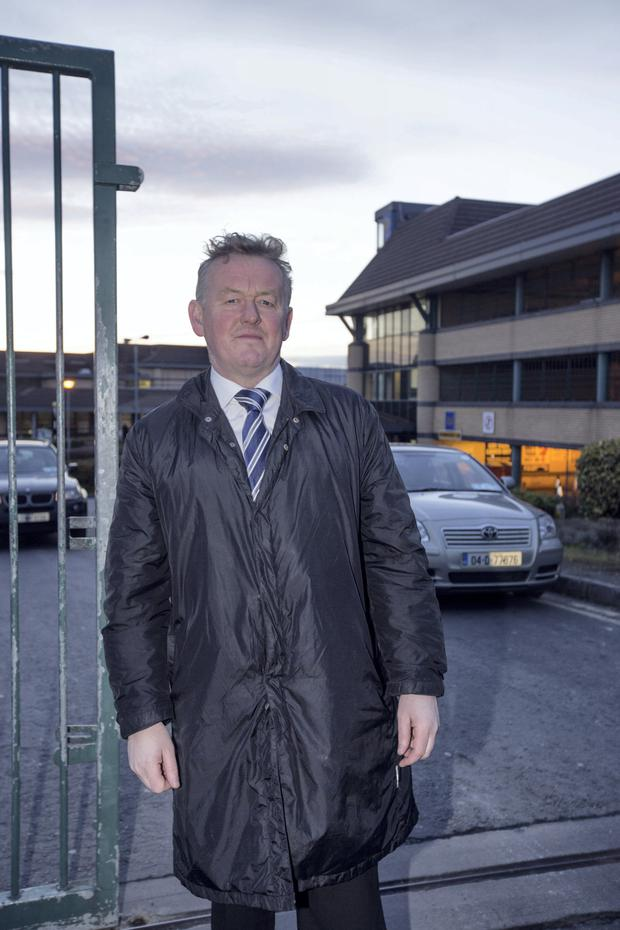 Stephen Delaney Stephen Delaney, President, Prison Officers' Association on his way into Tallaght general Hospital this evening.