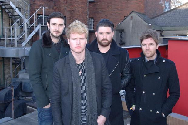 Steve Garrigan (front) with the rest of his bandmates in Kodaline