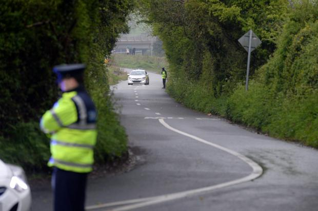 The scene at Windmill Lane Rathcoole where a baby was found abandoned