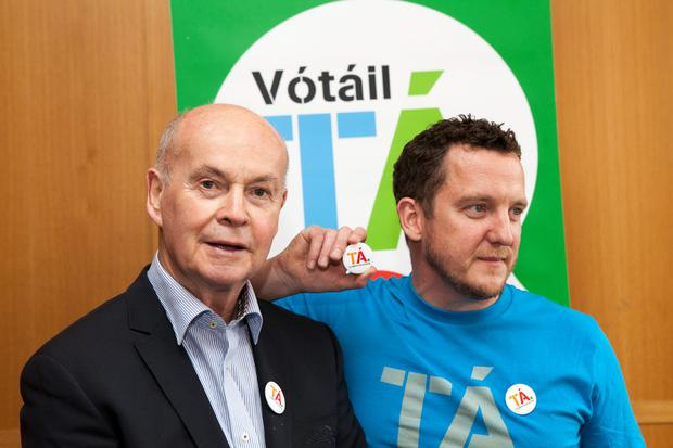 Pat Carey launches the Ta campaign with Traolach O Buachalla