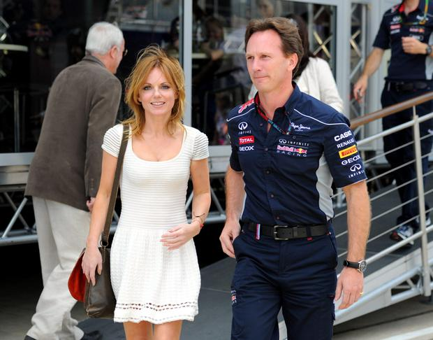 Geri Halliwell and Red Bull Racing team principal Christian Horner