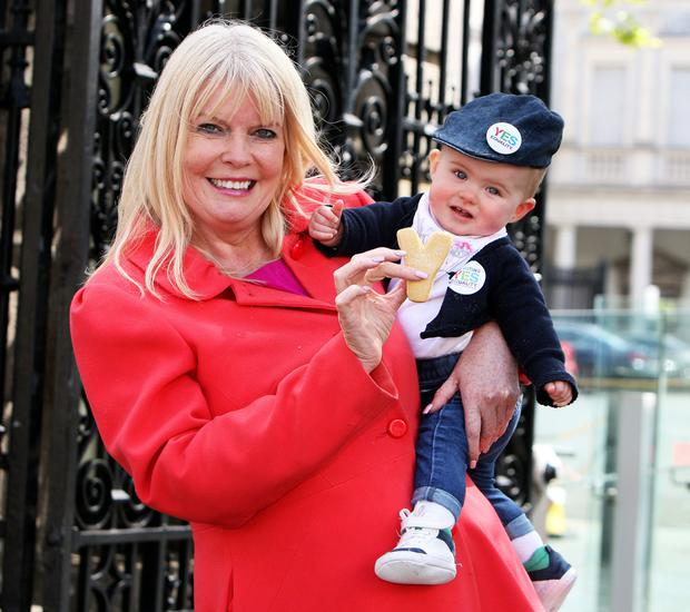 Mary Mitchell O'Connor, Fine Gael deputy for Dun Laoghaire pictured with 8 months old Koko Millard Byrne