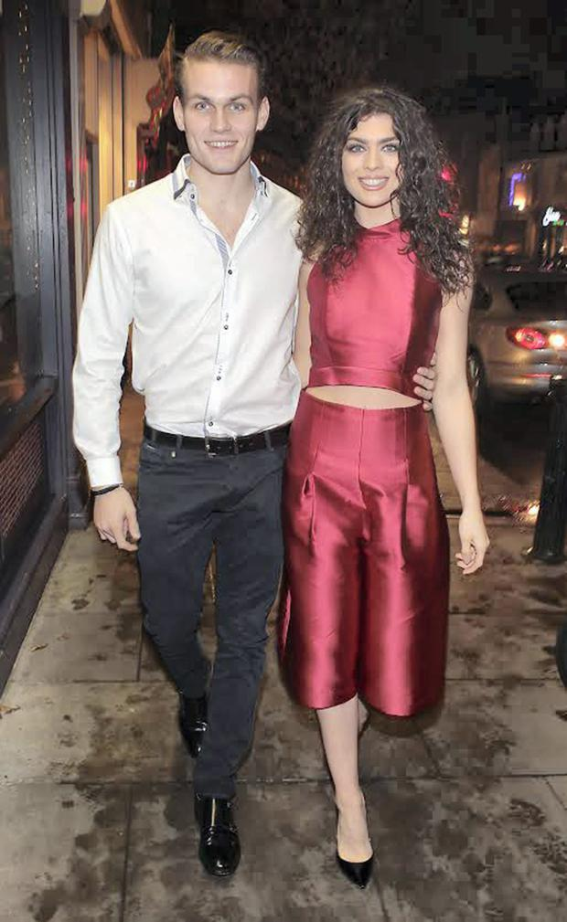 Model Ashling Quinn -Daighter of Niall and Gillian Quinn turns heads as she arrived with her boyfriend Ashley Duane