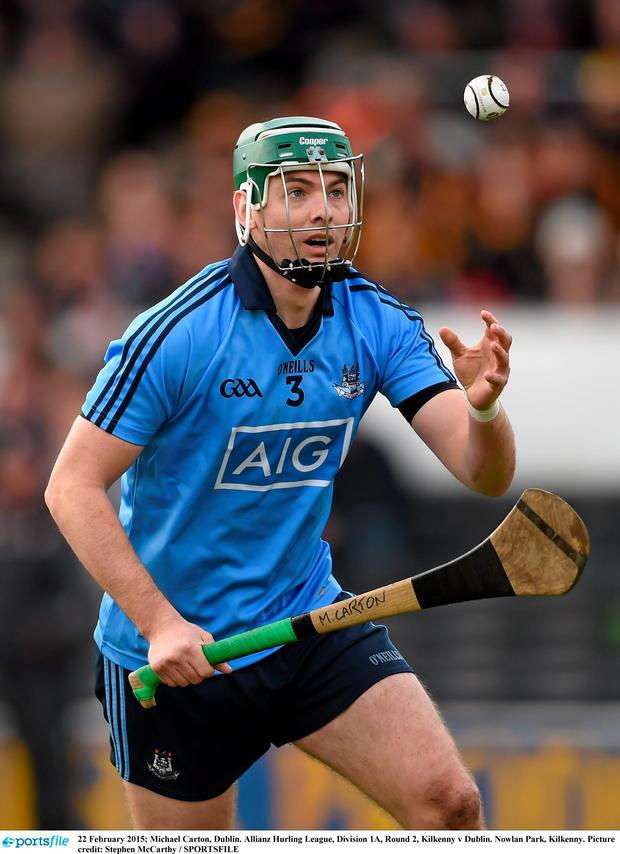 Michael Carton in action for the Dubs