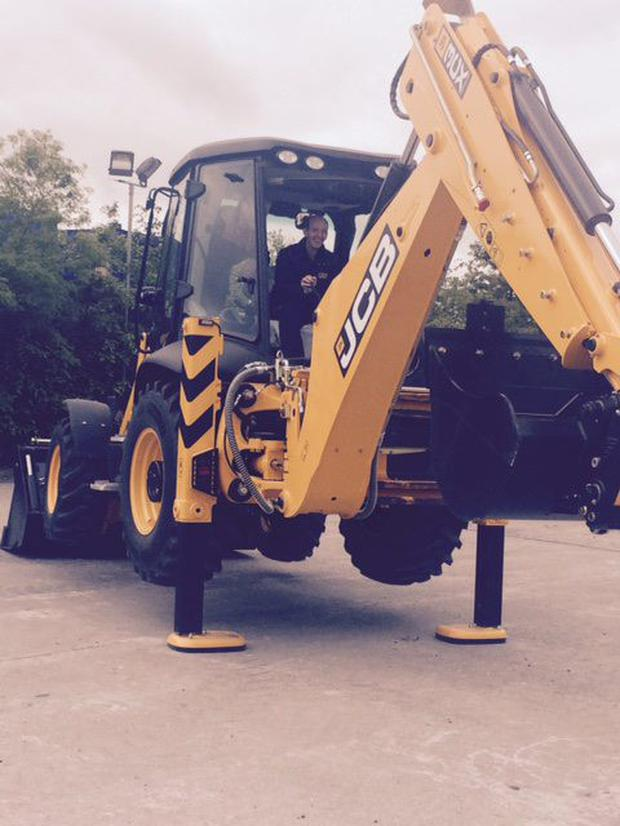 Paul Deaton with the JCB