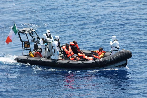 LÉ EITHNE operation 560 kilometres North of Libya on the 28th of May 2015