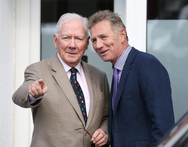 Gay Byrne and Eamon Coughlan