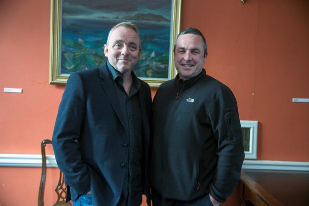 Dennis Lehane with Stuart Carolan at the Irish Writers Centre in Dublin