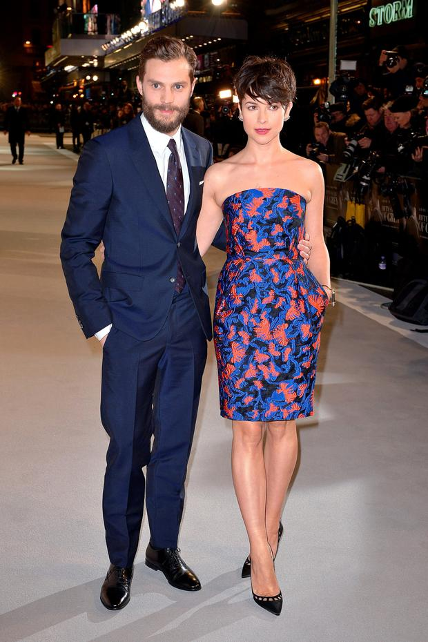 Jamie Dornan and Amelia Warner attending the UK premiere of Fifty Shades of Grey