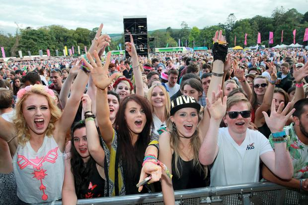 Fans at the Longitude festival at Marlay Park