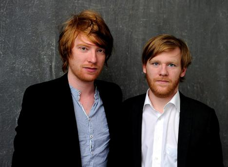 Domhnall and Brian Gleeson