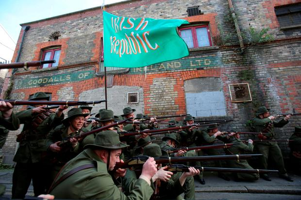 Re-enacting the 1916 Rising on Moore Street