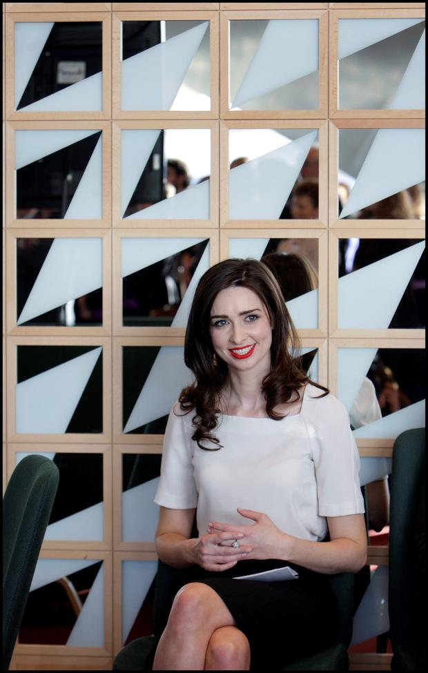 Television presenter Aoibhinn Ni Shuilleabhain, a Phd student pictured at the launch of Dublin City of Science at the Convention Centre in Dublin yesterday.