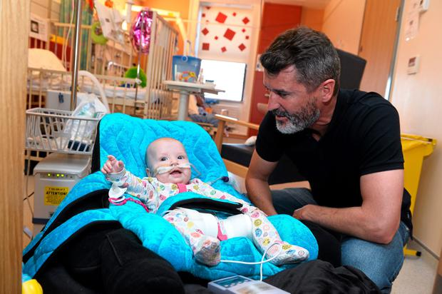 Roy Keane with Santa Ture, age 7 months, from Drogheda, Co. Louth