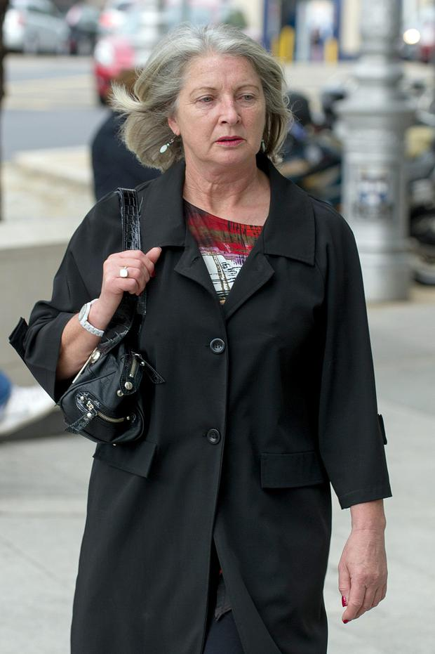 Former Anglo Irish Bank official Aoife Maguire at Dublin Circuit Criminal Court where a jury has been sworn in