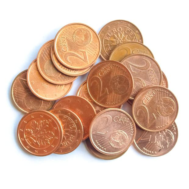 One and two cent coins