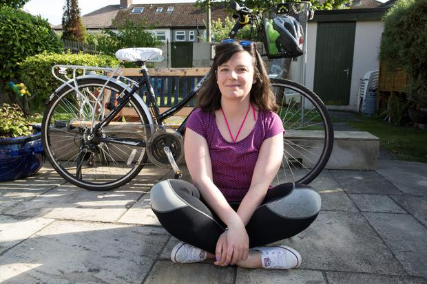 Orla Doogue, Dollymount, who is trying to find the man who helped her after she fell off her bike on the way to work. Picture: Arthur Carron