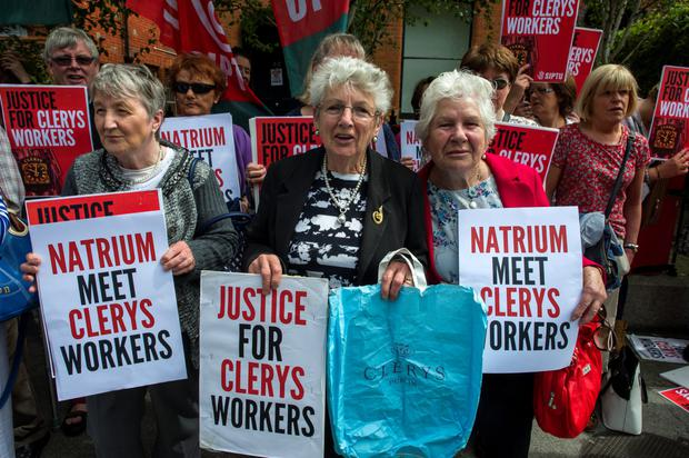 Clerys protest
