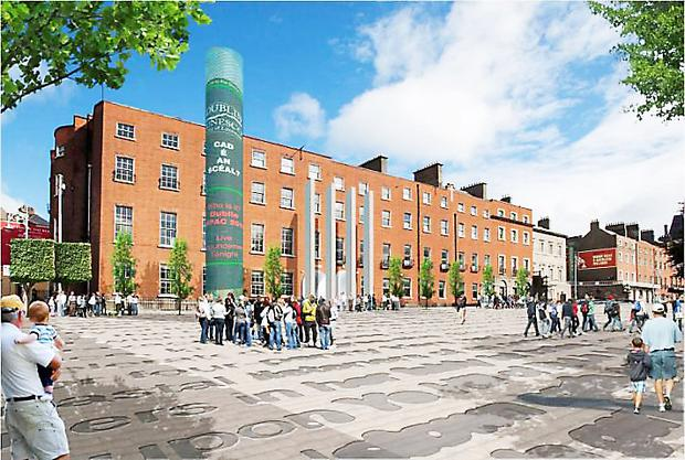 An artist's impression of the new library