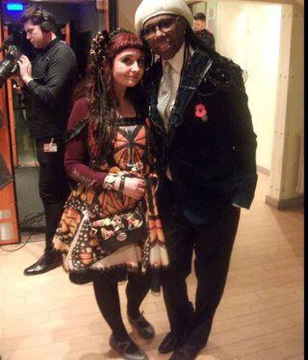 Funk superstar Nile Rodgers and Claire Garvey.