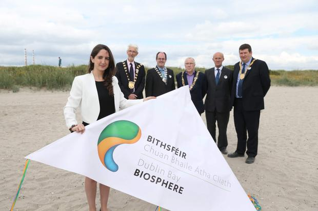 The announcement of Dublin Bay being designated a UNESCO Biosphere Reserve at a special event on North Bull Wall