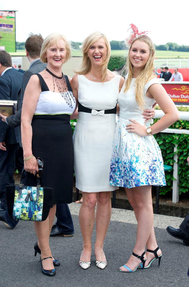 Kathleen Larkin, Annette Nolan and Danielle Nolan from Carlow at the Dubai Duty Free Irish Derby at The Curragh