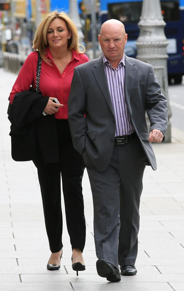 Daviud Speedie and his fiancee Margaret Gray outside court