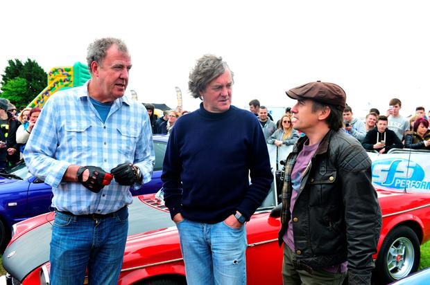 Jeremy Clarkson, Richard Hammond and James May in the final Top Gear show