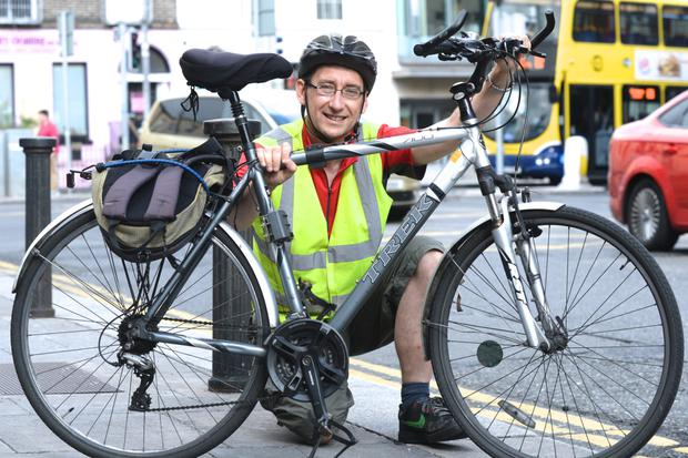 Paschal Comerford originally from Tipperary who now commutes into the city by bike from Rathfarnham.