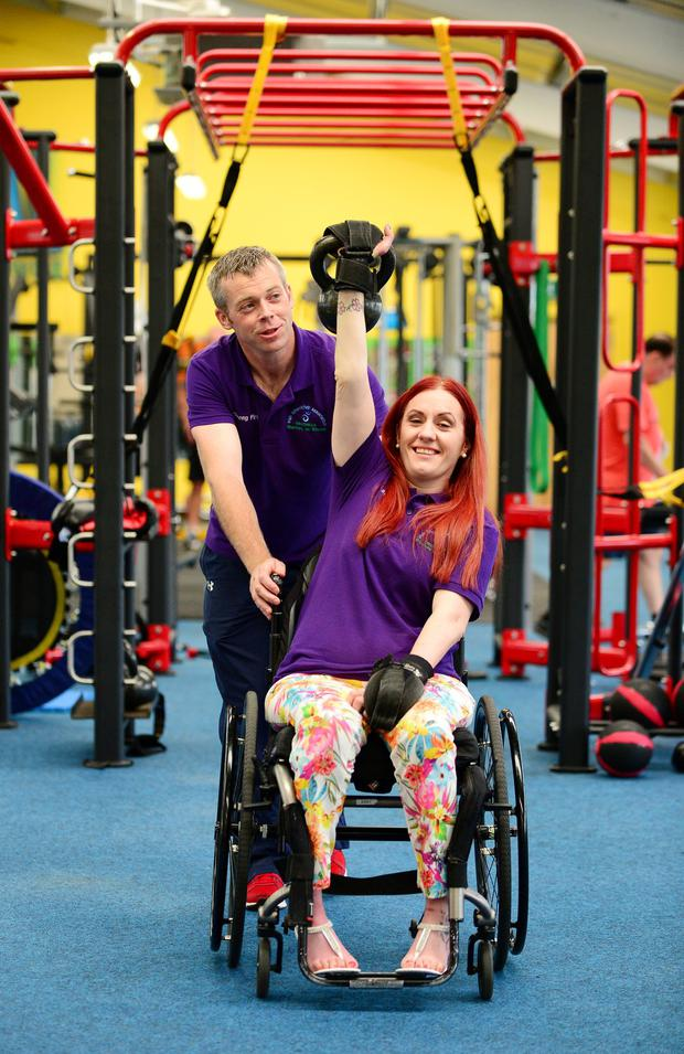 Nicola McDonnell (pictured) was the inspiration for the class, she is pictured here with her instructor Kieran McDonell (no relation)