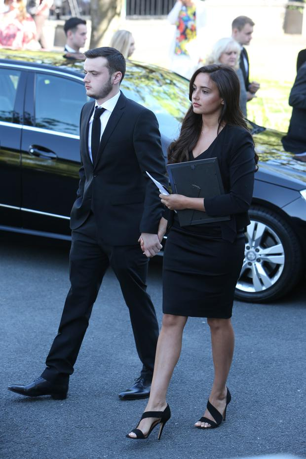 Nadia Forde at her mum's funeral