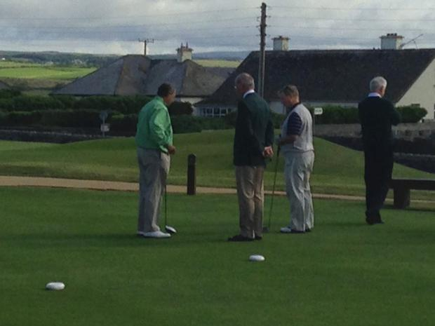 Enda and Boehner on Lahinch course
