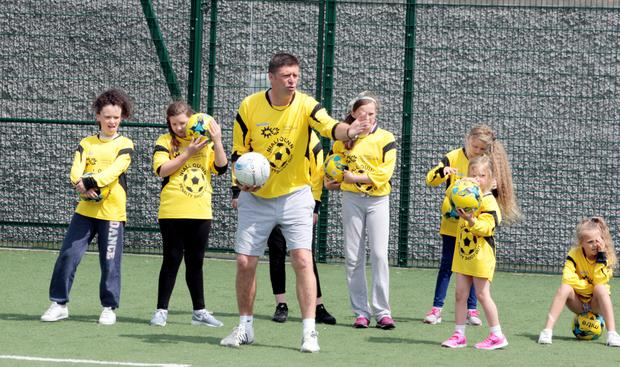 Niall Quinn at the Sean O Casey Community centre in East Wall
