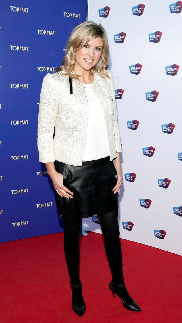 Jenny Buckley at the opening night of Top Hat at The Bord Gais Enegy Theatre,Dublin.