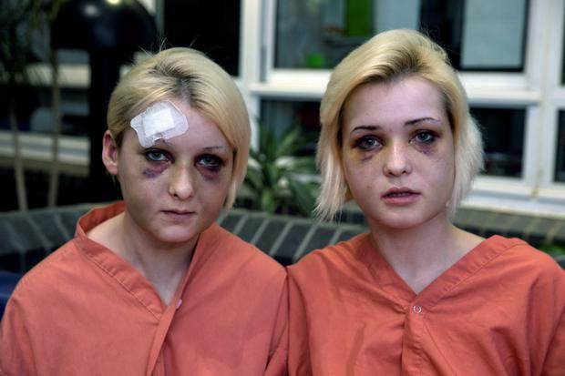 Sisters Nicole and Amy Rice who were attacked by two men in an apartment in Newbridge in May