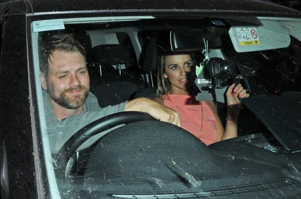 Brian McFadden picked up Vogue Williams from the ITV summer party in Notting Hill, London on Thursday, just two days after revealing their marriage was over