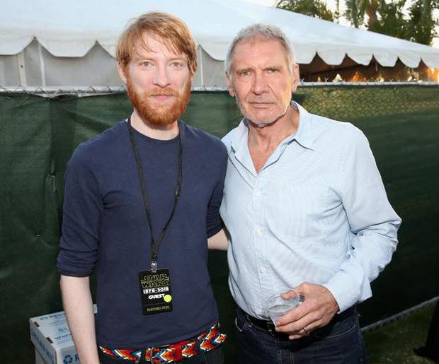 Domhnall Gleeson and Harrison Ford