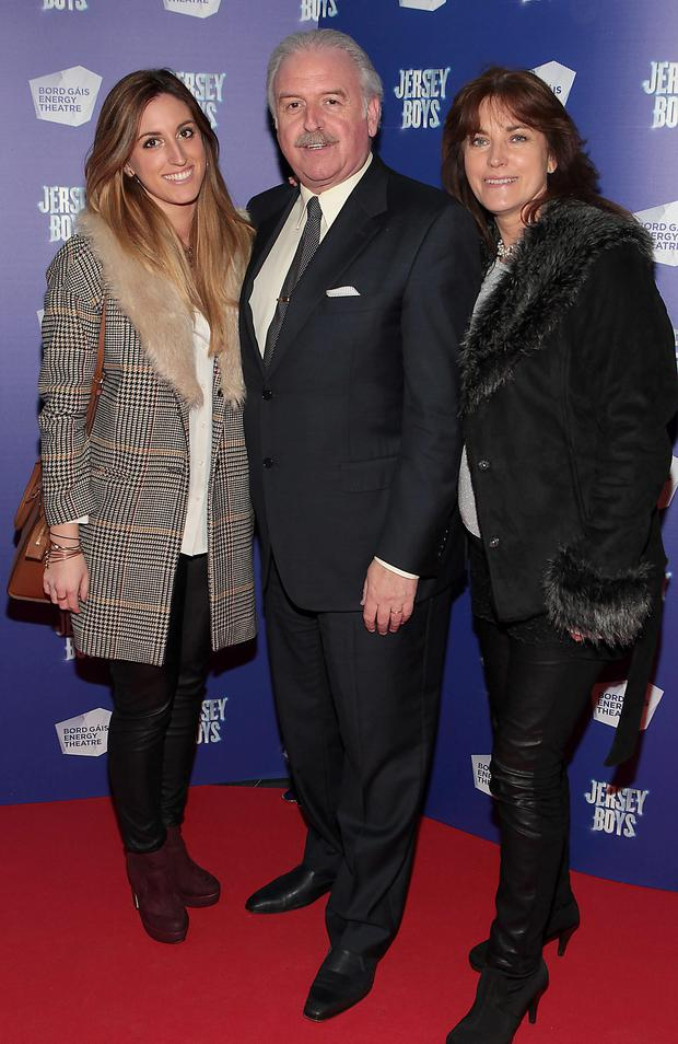 Marty Whelan with daughter Jessica and wife Maria