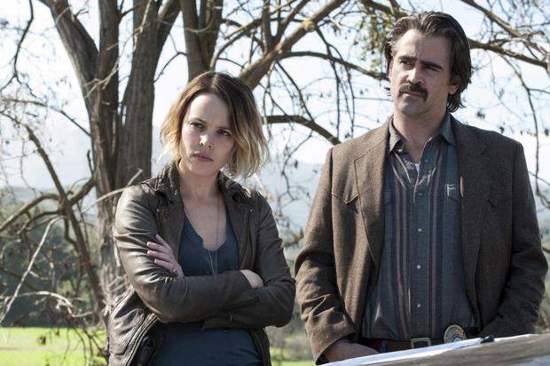 Rachel McAdams and Colin Farrell in True Detective