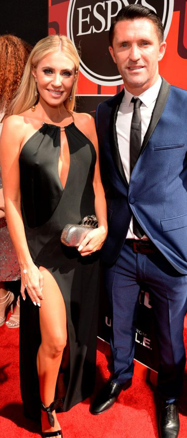 Claudine Keane and husband Robbie at the Espy Awards