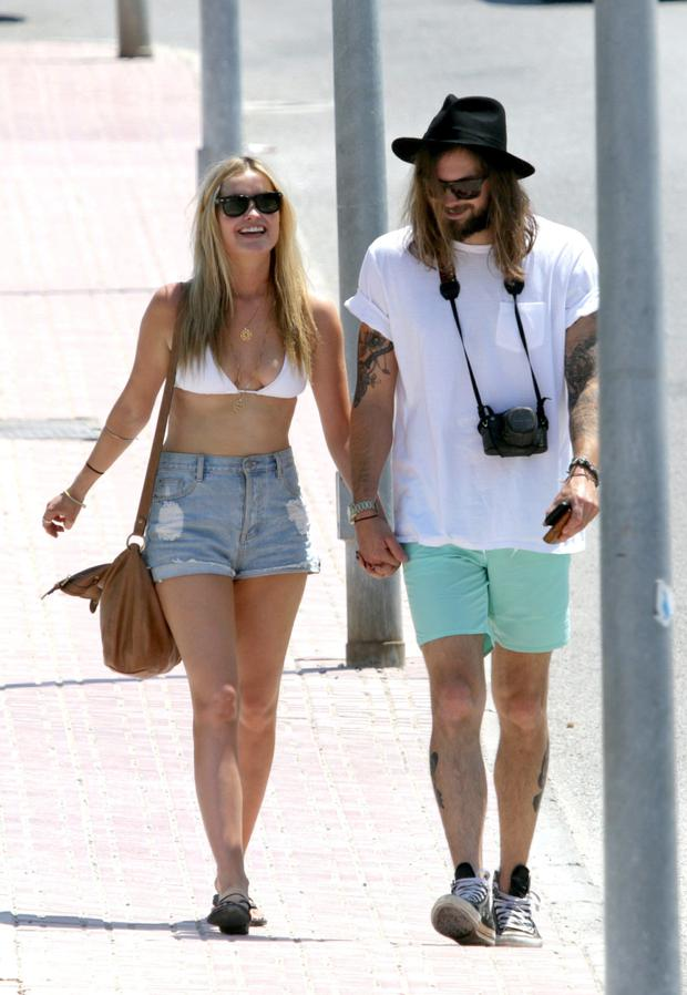 Laura Whitmore on holidays with Rory Williams in Ibiza. Picture: Fame Flynet UK