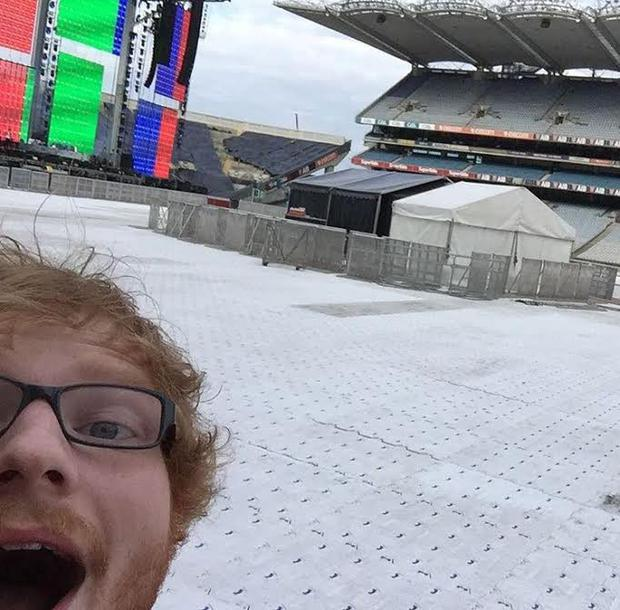 Ed posted this picture of himself at GAA HQ ahead of tonight's big show