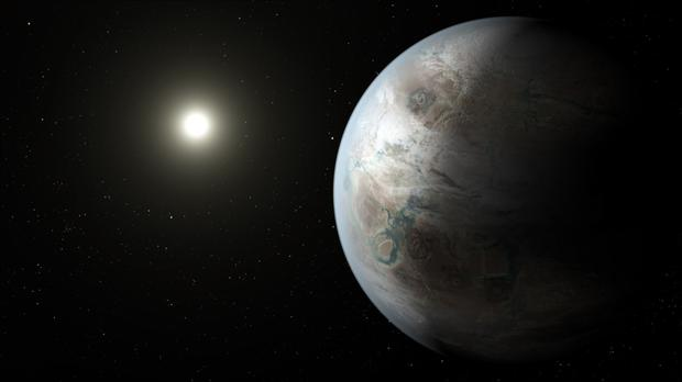 An artist's impression of the new planet