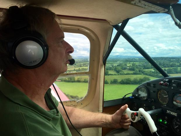 Howard Cox (67) photographed on Saturday afternoon over Brittas, Limerick